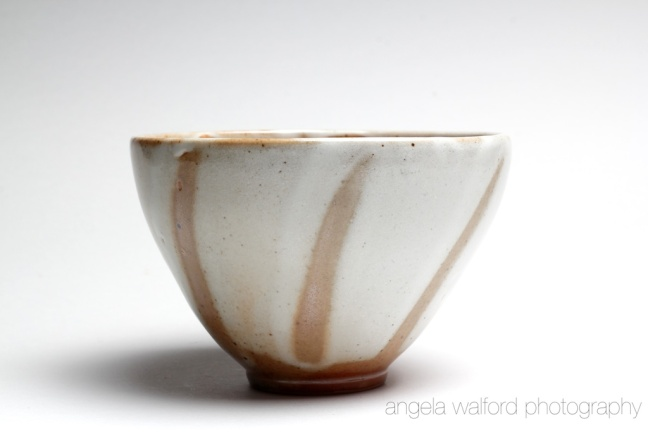 Shino bowl glaze overlay