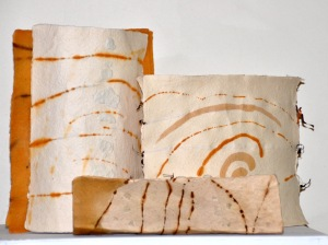 of a gorgeous nothing (ref: Emily Dickenson) Handmade recycled cotton rag paper Seagrass – posidonia Wire – copper, tinned copper 2016